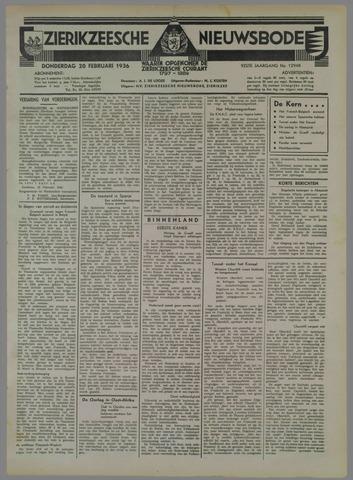 Zierikzeesche Nieuwsbode 1936-02-20