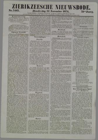 Zierikzeesche Nieuwsbode 1874-11-12