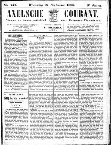 Axelsche Courant 1893-09-27