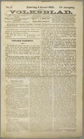 Volksblad 1890