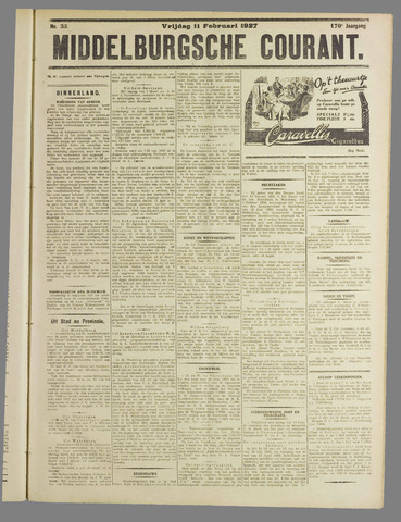 Middelburgsche Courant 1927-02-11