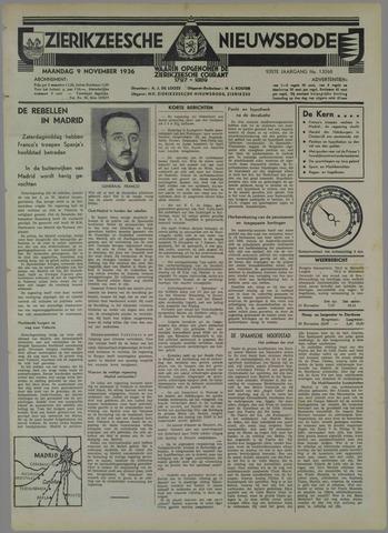 Zierikzeesche Nieuwsbode 1936-11-09