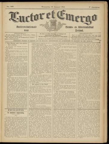 Luctor et Emergo. Antirevolutionair nieuws- en advertentieblad voor Zeeland / Zeeuwsch-Vlaanderen. Orgaan ter verspreiding van de christelijke beginselen in Zeeuwsch-Vlaanderen 1912-01-10