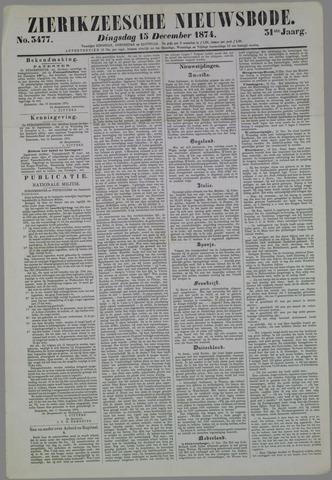 Zierikzeesche Nieuwsbode 1874-12-15