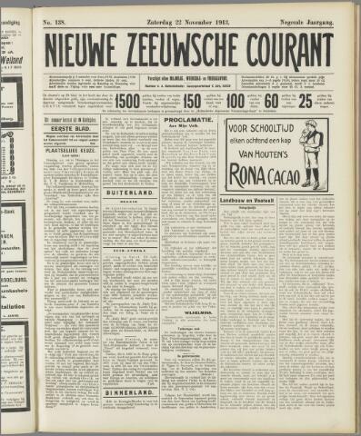 Nieuwe Zeeuwsche Courant 1913-11-22