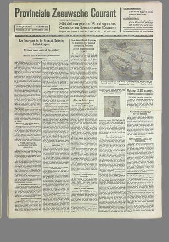 Provinciale Zeeuwse Courant 1940-09-25