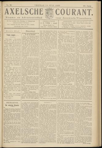 Axelsche Courant 1933-07-14