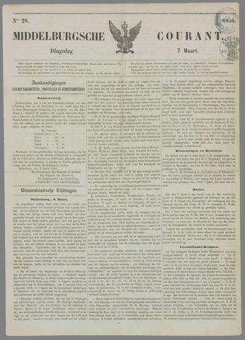 Middelburgsche Courant 1854-03-07