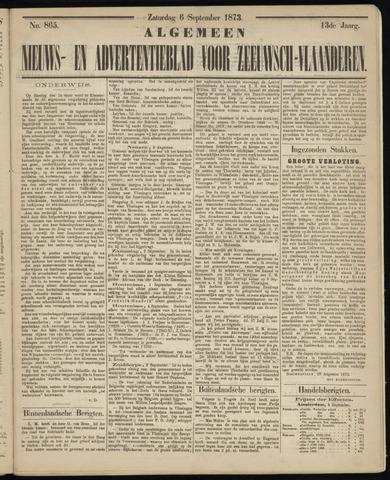 Ter Neuzensche Courant. Algemeen Nieuws- en Advertentieblad voor Zeeuwsch-Vlaanderen / Neuzensche Courant ... (idem) / (Algemeen) nieuws en advertentieblad voor Zeeuwsch-Vlaanderen 1873-09-06