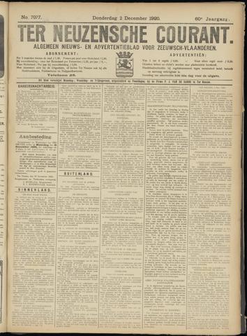 Ter Neuzensche Courant. Algemeen Nieuws- en Advertentieblad voor Zeeuwsch-Vlaanderen / Neuzensche Courant ... (idem) / (Algemeen) nieuws en advertentieblad voor Zeeuwsch-Vlaanderen 1920-12-02