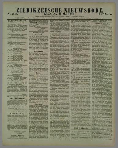 Zierikzeesche Nieuwsbode 1888-05-24