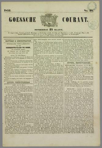 Goessche Courant 1852-03-25