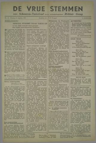 Vrije Stemmen van Schouwen-Duiveland, tevens mededeelingenblad Militair Gezag 1945-08-28