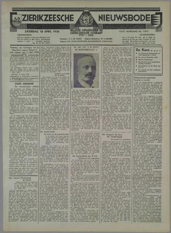 Zierikzeesche Nieuwsbode 1936-04-18
