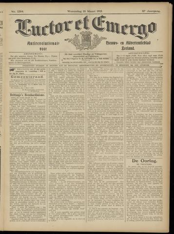 Luctor et Emergo. Antirevolutionair nieuws- en advertentieblad voor Zeeland / Zeeuwsch-Vlaanderen. Orgaan ter verspreiding van de christelijke beginselen in Zeeuwsch-Vlaanderen 1915-03-10