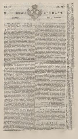 Middelburgsche Courant 1762-02-13