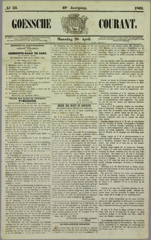 Goessche Courant 1862-04-28