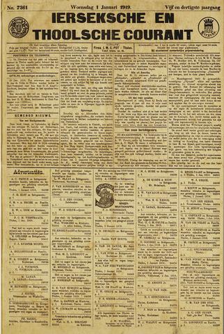 Ierseksche en Thoolsche Courant 1919