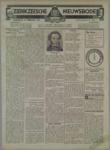 Zierikzeesche Nieuwsbode 1937-02-10
