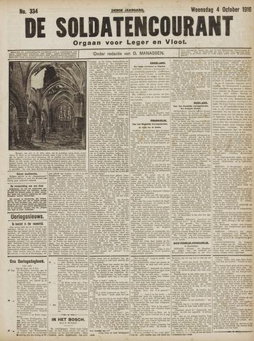 De Soldatencourant. Orgaan voor Leger en Vloot 1916-10-04
