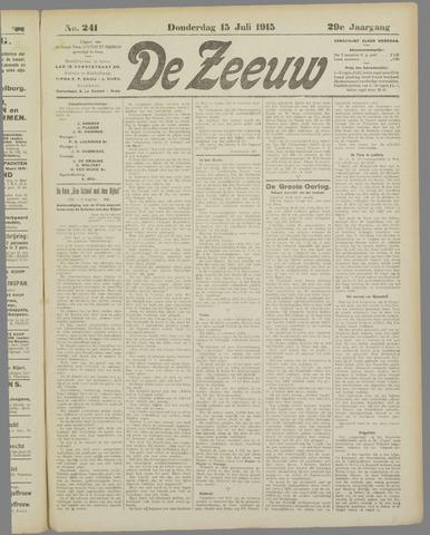 De Zeeuw. Christelijk-historisch nieuwsblad voor Zeeland 1915-07-15