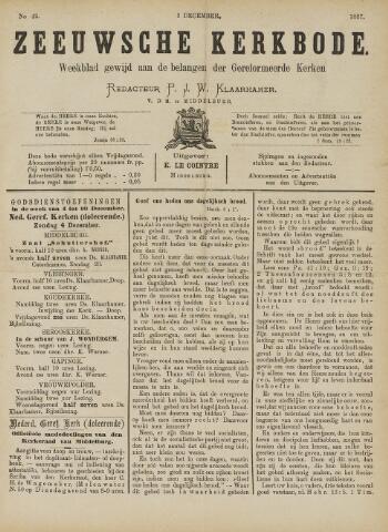 Zeeuwsche kerkbode, weekblad gewijd aan de belangen der gereformeerde kerken/ Zeeuwsch kerkblad 1887-12-03