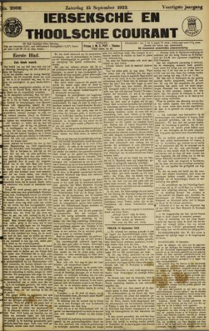 Ierseksche en Thoolsche Courant 1923-09-15