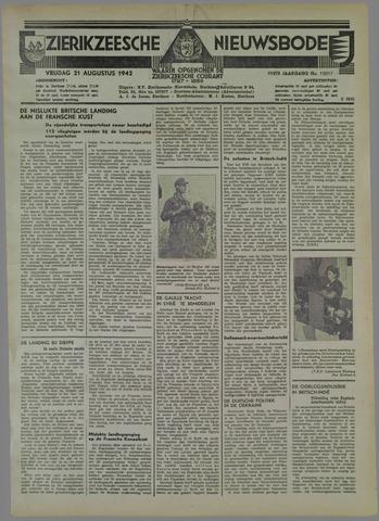Zierikzeesche Nieuwsbode 1942-08-21