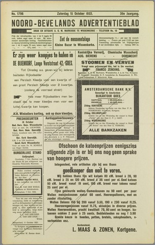 Noord-Bevelands Nieuws- en advertentieblad 1932-10-15