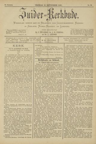 Zuider Kerkbode, Weekblad gewijd aan de belangen der gereformeerde kerken in Zeeland, Noord-Brabant en Limburg. 1897-09-24