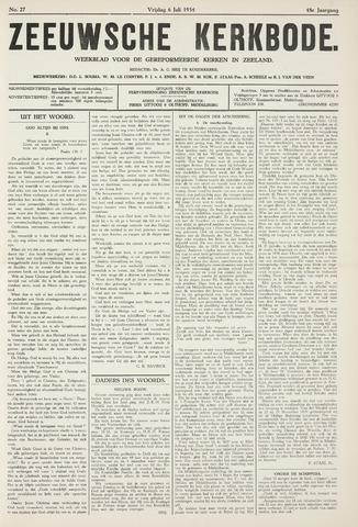Zeeuwsche kerkbode, weekblad gewijd aan de belangen der gereformeerde kerken/ Zeeuwsch kerkblad 1934-07-06