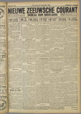 Nieuwe Zeeuwsche Courant 1922-12-20