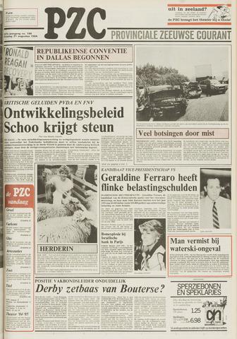 Provinciale Zeeuwse Courant 1984-08-21