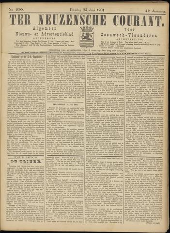 Ter Neuzensche Courant. Algemeen Nieuws- en Advertentieblad voor Zeeuwsch-Vlaanderen / Neuzensche Courant ... (idem) / (Algemeen) nieuws en advertentieblad voor Zeeuwsch-Vlaanderen 1901-06-25