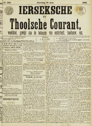 Ierseksche en Thoolsche Courant 1892-06-18