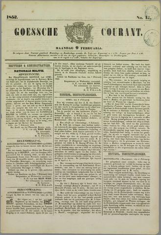 Goessche Courant 1852-02-09