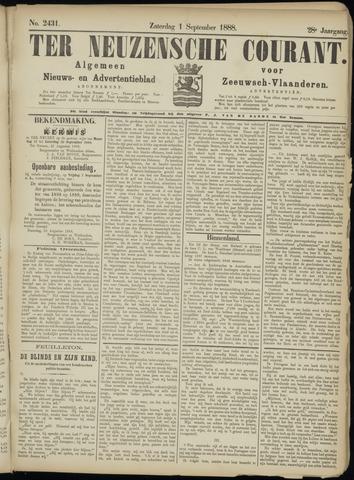 Ter Neuzensche Courant. Algemeen Nieuws- en Advertentieblad voor Zeeuwsch-Vlaanderen / Neuzensche Courant ... (idem) / (Algemeen) nieuws en advertentieblad voor Zeeuwsch-Vlaanderen 1888-09-01