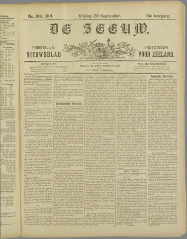 De Zeeuw. Christelijk-historisch nieuwsblad voor Zeeland 1901-09-20