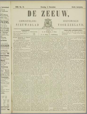 De Zeeuw. Christelijk-historisch nieuwsblad voor Zeeland 1888-12-11