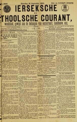 Ierseksche en Thoolsche Courant 1905-09-16