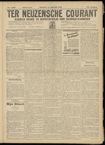 Ter Neuzensche Courant. Algemeen Nieuws- en Advertentieblad voor Zeeuwsch-Vlaanderen / Neuzensche Courant ... (idem) / (Algemeen) nieuws en advertentieblad voor Zeeuwsch-Vlaanderen 1934-01-12