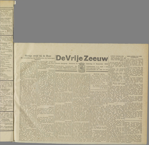 de Vrije Zeeuw 1944-12-02