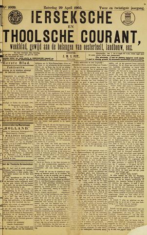 Ierseksche en Thoolsche Courant 1905-04-29