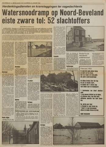 Watersnood documentatie 1953 - kranten 1983-01-26