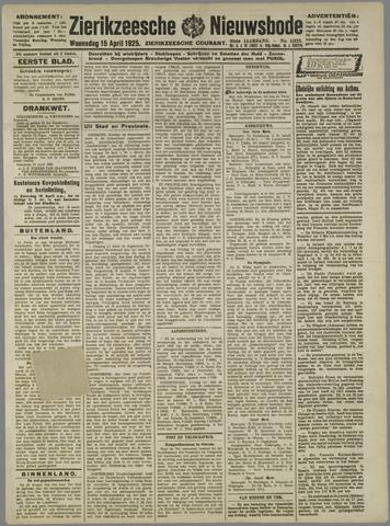 Zierikzeesche Nieuwsbode 1925-04-15