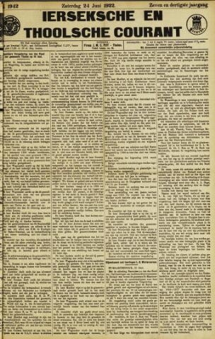 Ierseksche en Thoolsche Courant 1922-06-24