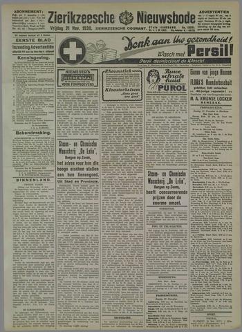 Zierikzeesche Nieuwsbode 1930-11-21
