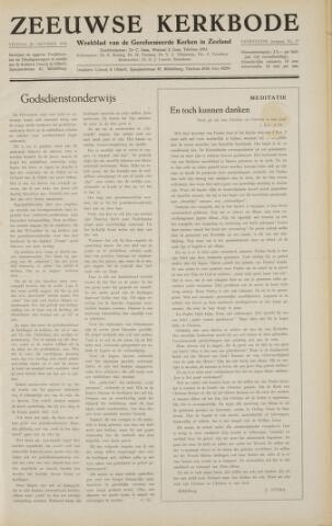 Zeeuwsche kerkbode, weekblad gewijd aan de belangen der gereformeerde kerken/ Zeeuwsch kerkblad 1958-10-24
