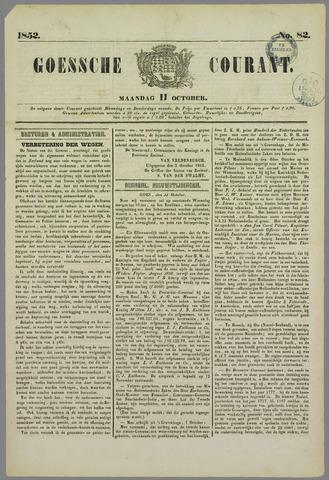 Goessche Courant 1852-10-11