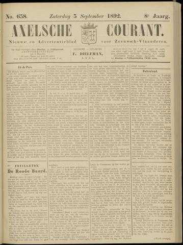 Axelsche Courant 1892-09-03